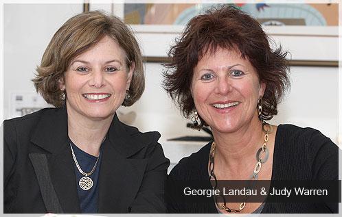 Georgie Landau (left) and Judy Warren